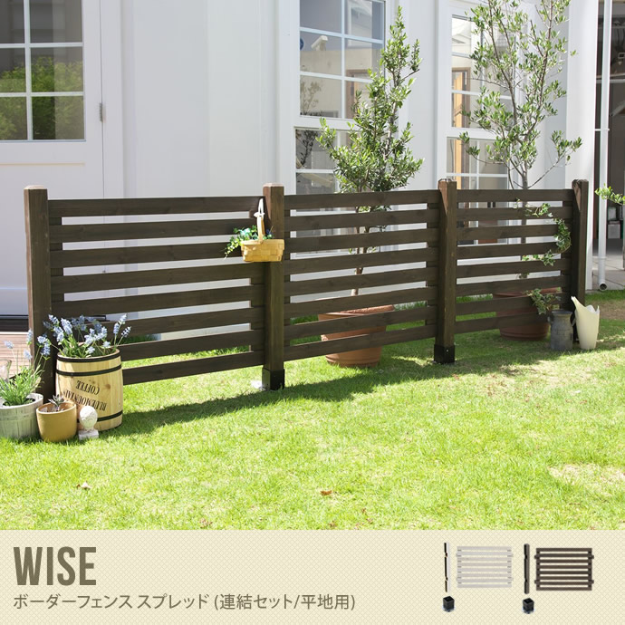 Wise ボーダーフェンス スプレッド(連結セット/平地用)
