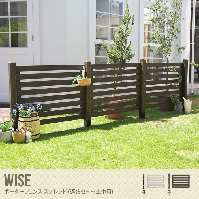 Wise ボーダーフェンス スプレッド(連結セット/土中用)