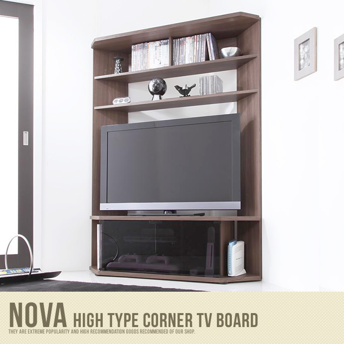 【送料無料】Nova High type corner TV board